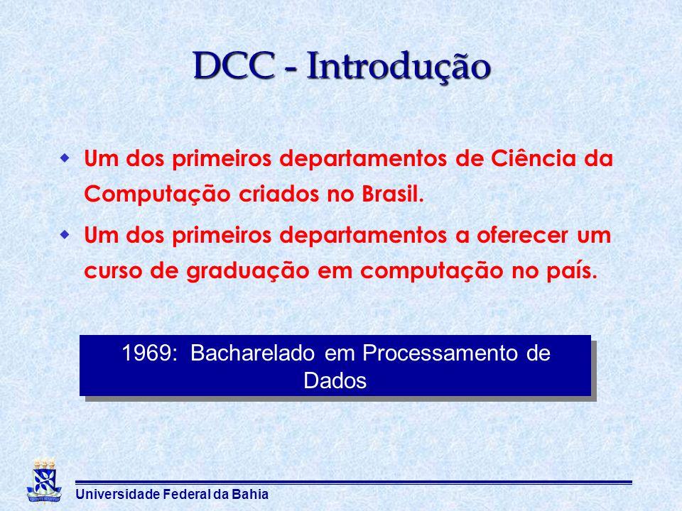 1969: Bacharelado em Processamento de Dados