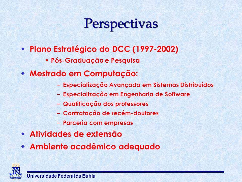 Perspectivas Plano Estratégico do DCC (1997-2002)