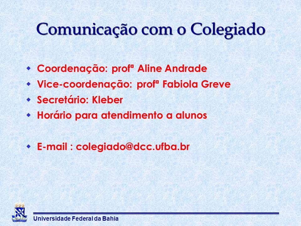 Comunicação com o Colegiado