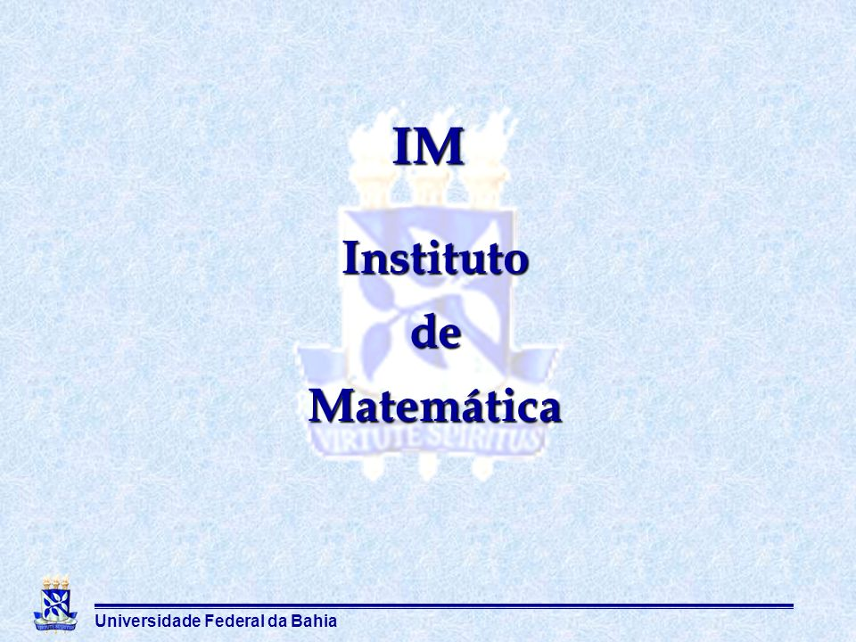 IM Instituto de Matemática