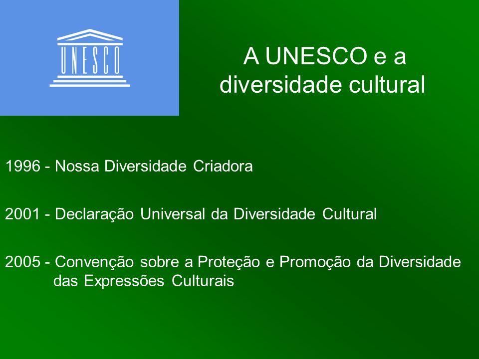 A UNESCO e a diversidade cultural 1996 - Nossa Diversidade Criadora