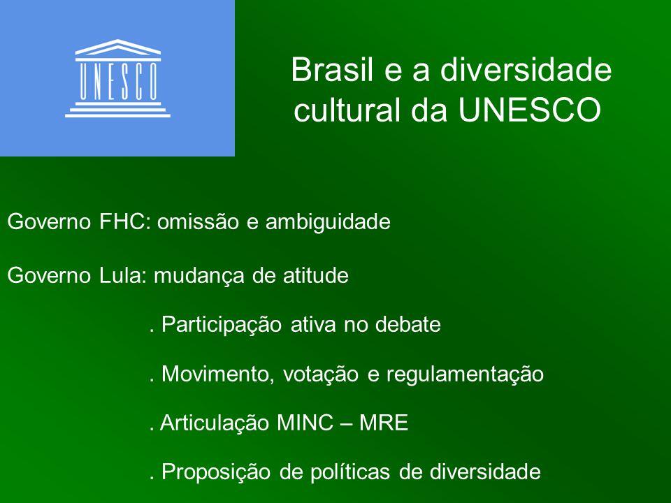 Brasil e a diversidade cultural da UNESCO
