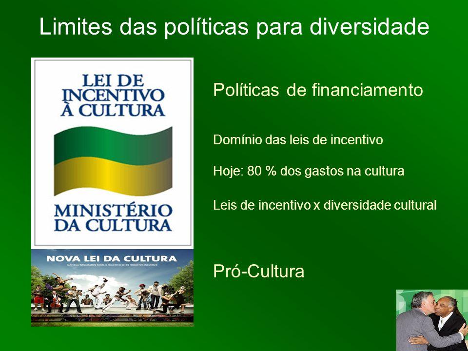 Limites das políticas para diversidade