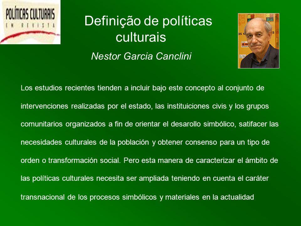 Definição de políticas culturais