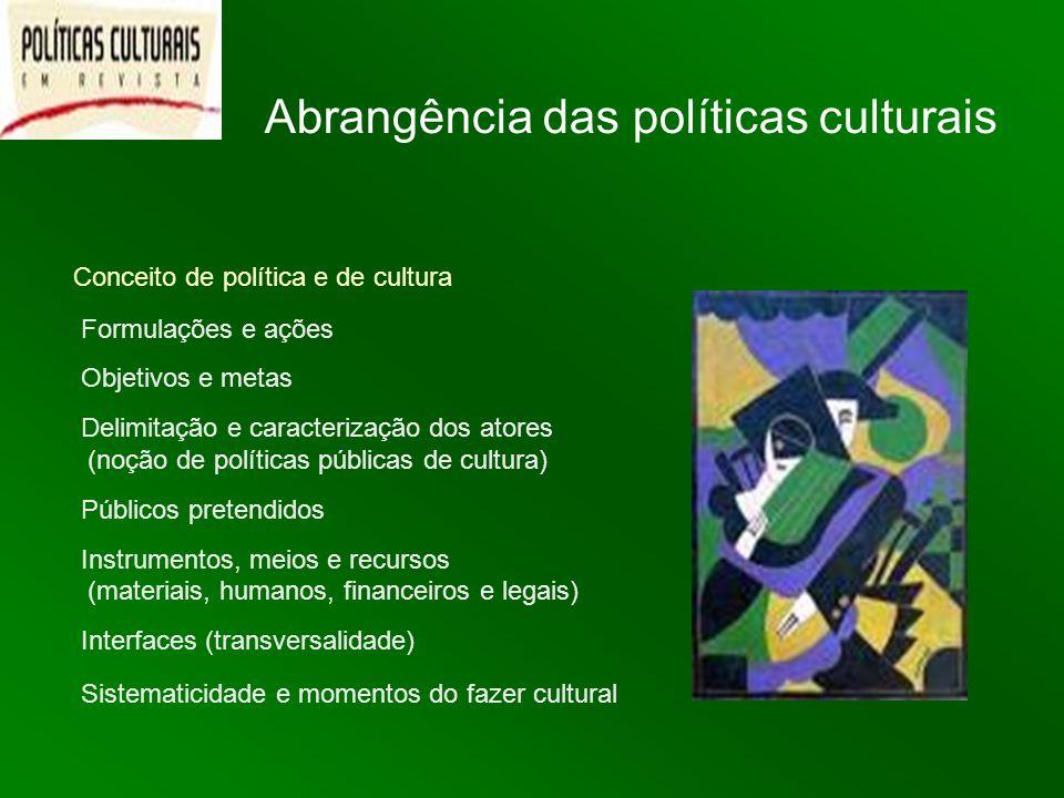 Abrangência das políticas culturais
