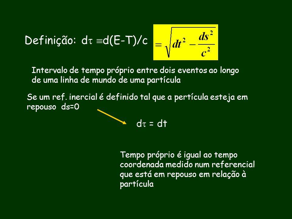 Definição: d d(E-T)/c