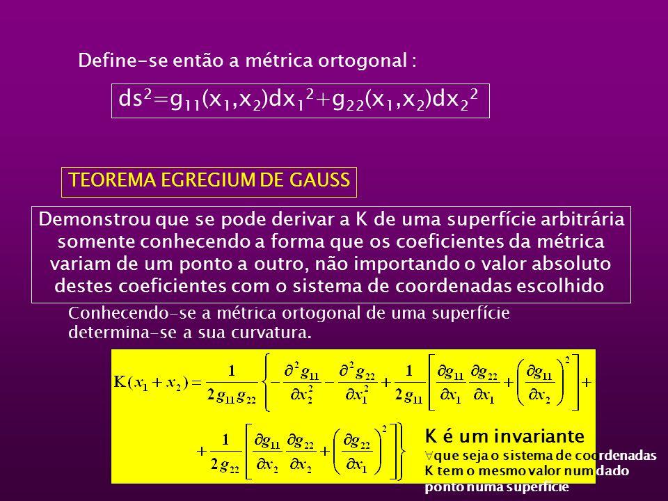 Define-se então a métrica ortogonal :