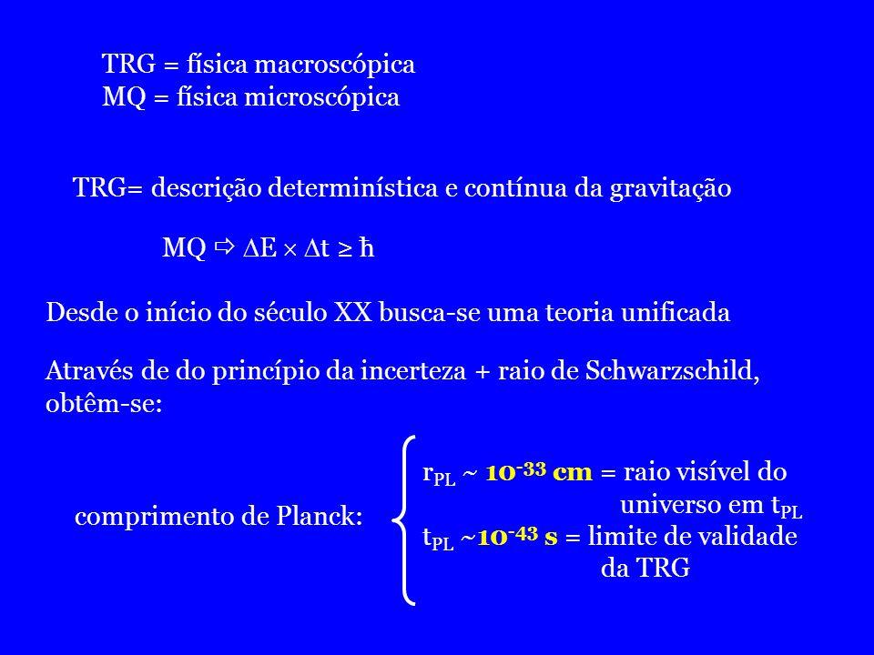 TRG = física macroscópica