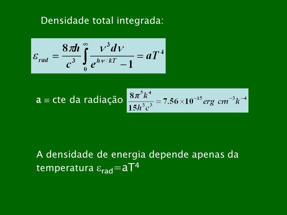 Densidade total integrada: