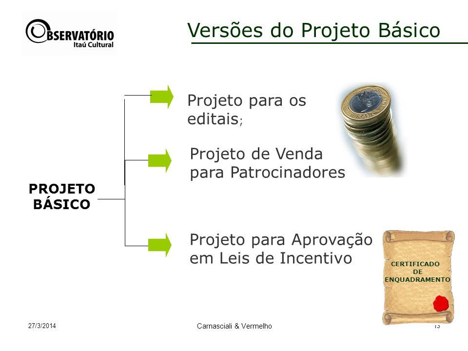 Versões do Projeto Básico