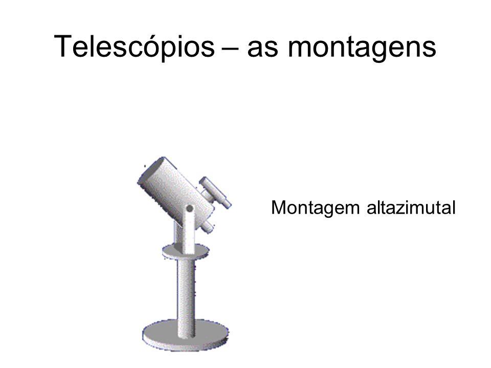 Telescópios – as montagens