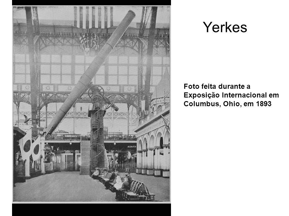 Yerkes Foto feita durante a Exposição Internacional em Columbus, Ohio, em 1893