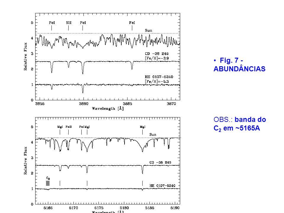 Fig. 7 - ABUNDÂNCIAS OBS.: banda do C2 em ~5165A