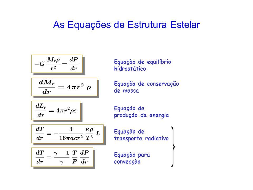 As Equações de Estrutura Estelar