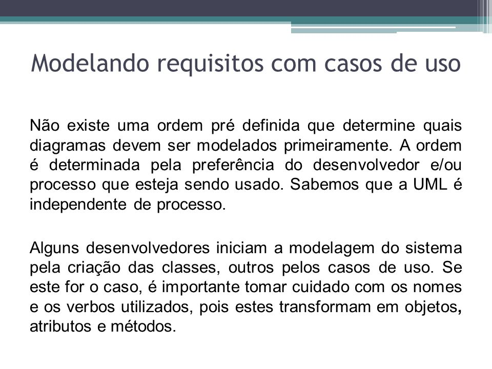Modelando requisitos com casos de uso