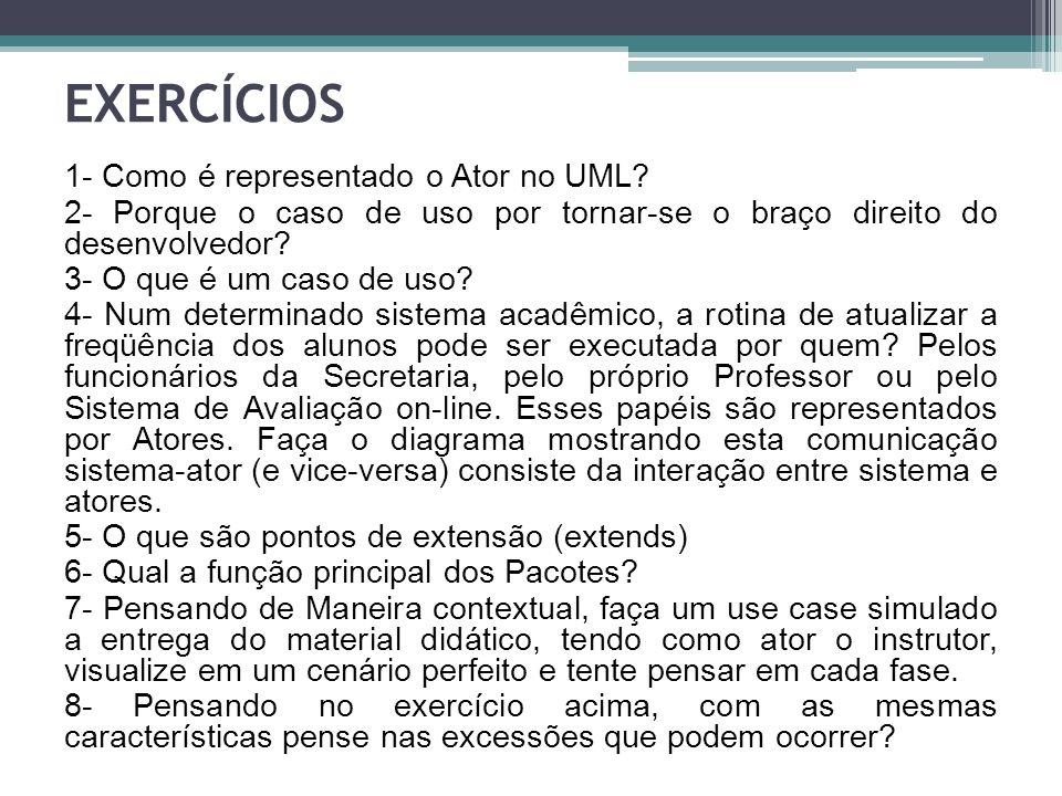 1- Como é representado o Ator no UML