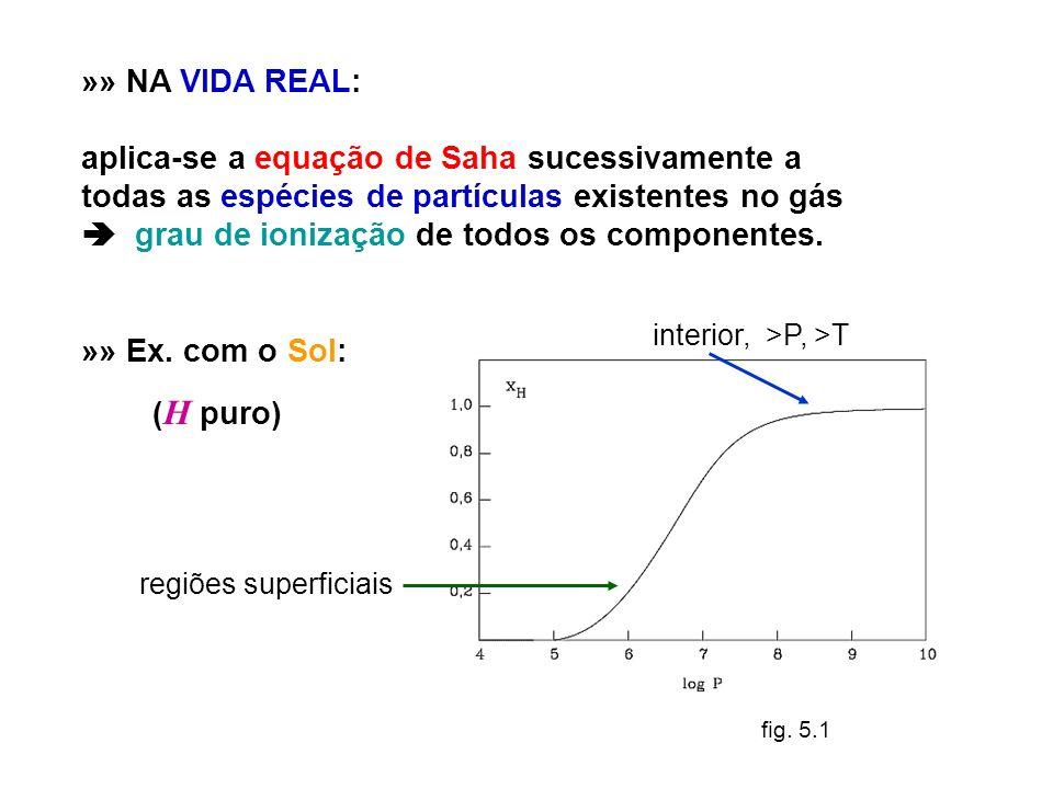 aplica-se a equação de Saha sucessivamente a