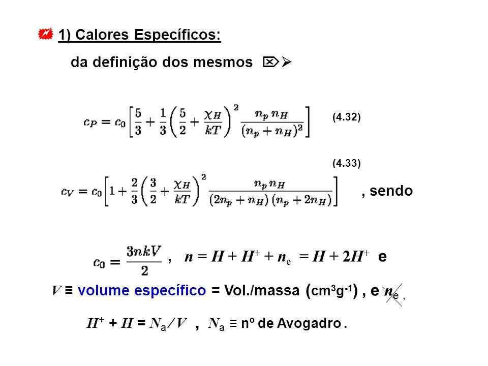 1) Calores Específicos: