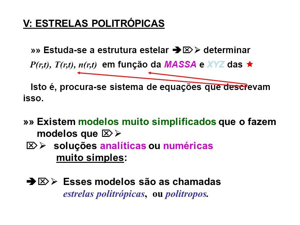 V: ESTRELAS POLITRÓPICAS