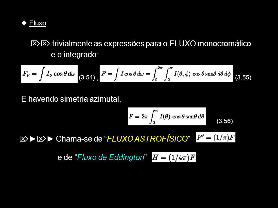 E havendo simetria azimutal, (3.56)