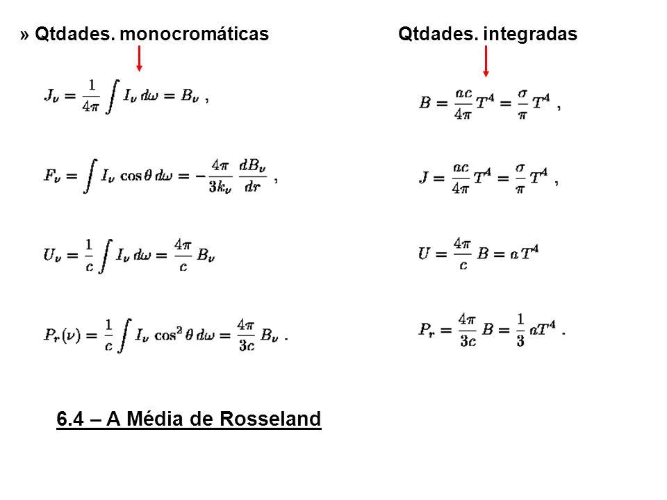 6.4 – A Média de Rosseland » Qtdades. monocromáticas