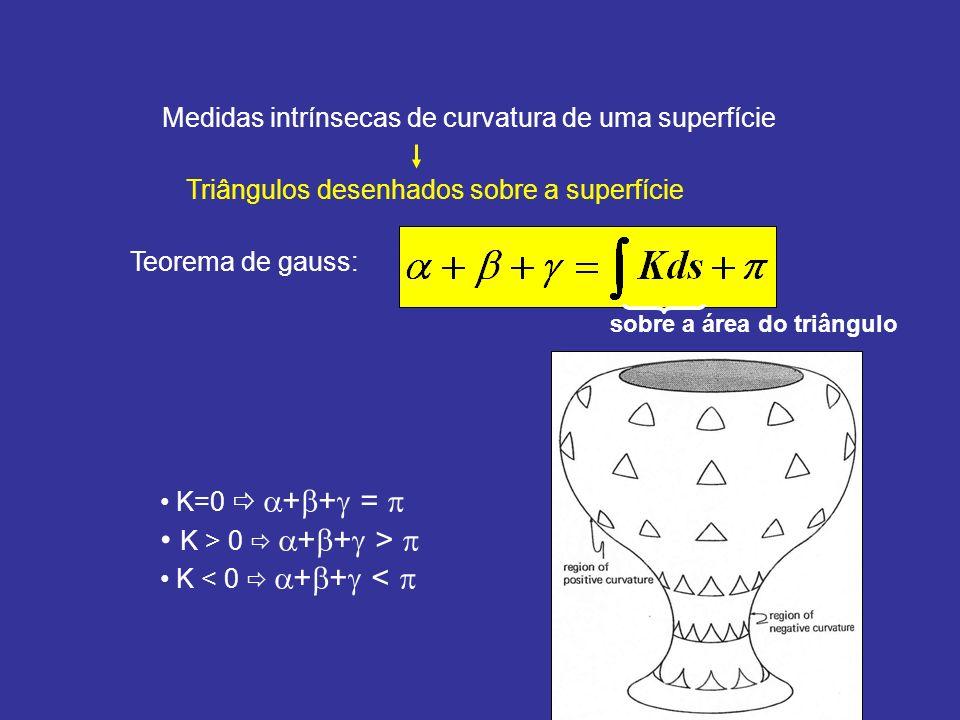 Medidas intrínsecas de curvatura de uma superfície