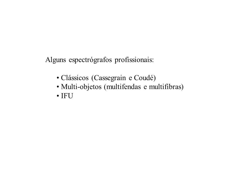 Alguns espectrógrafos profissionais: