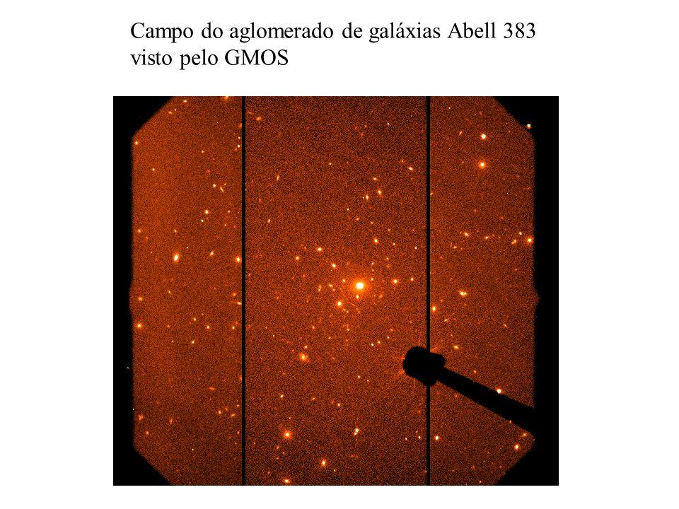 Campo do aglomerado de galáxias Abell 383 visto pelo GMOS