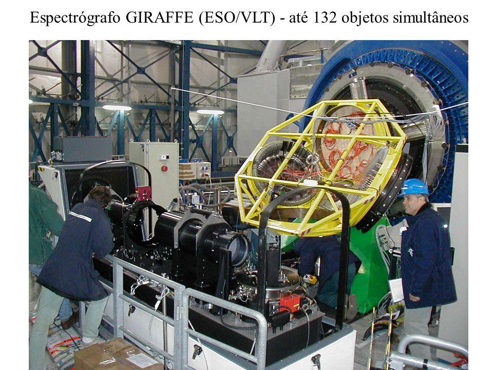 Espectrógrafo GIRAFFE (ESO/VLT) - até 132 objetos simultâneos