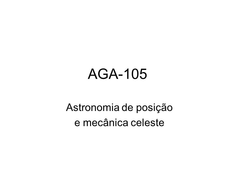 Astronomia de posição e mecânica celeste