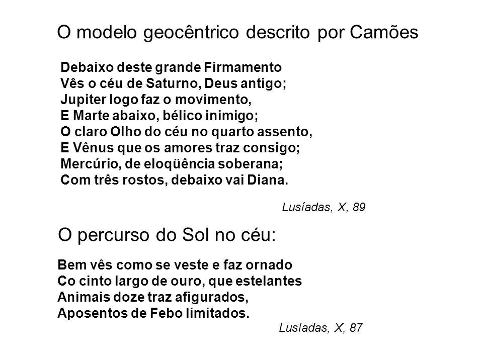 O modelo geocêntrico descrito por Camões