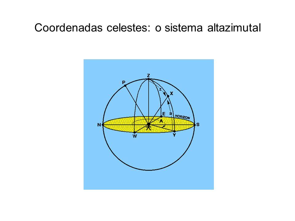 Coordenadas celestes: o sistema altazimutal