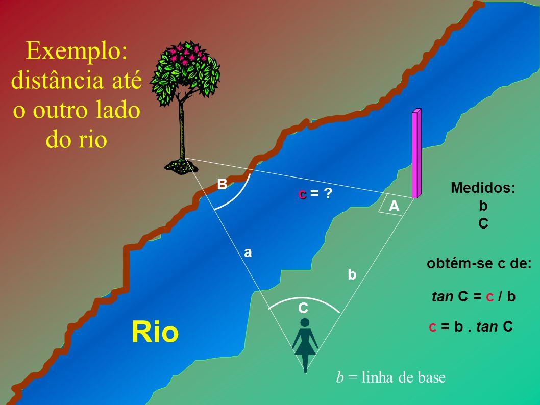 Exemplo: distância até o outro lado do rio
