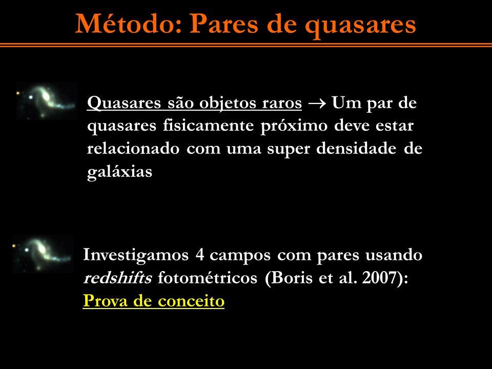Método: Pares de quasares