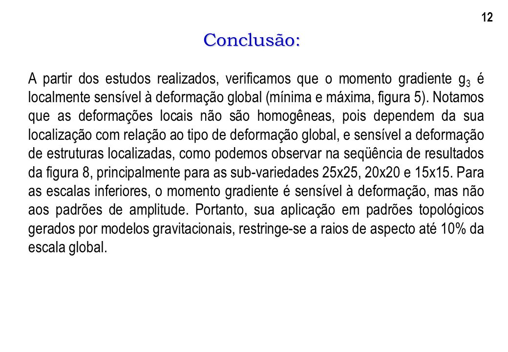 12 Conclusão: