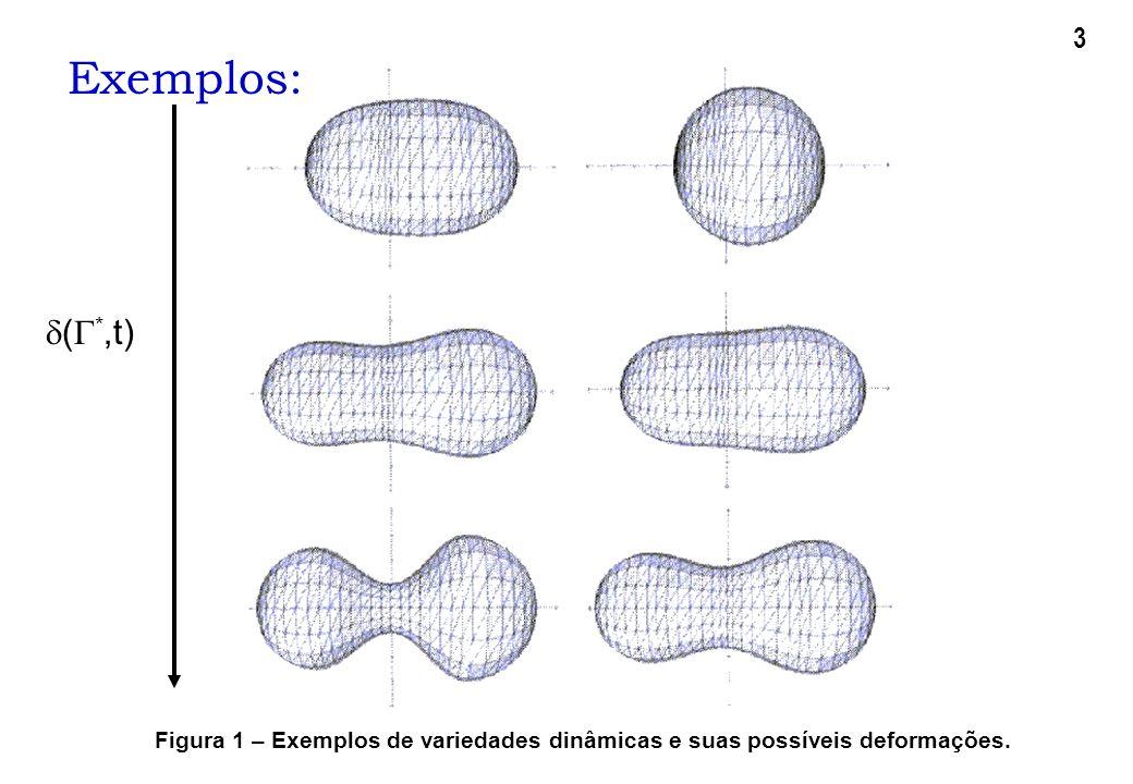 3 Exemplos: (*,t) Figura 1 – Exemplos de variedades dinâmicas e suas possíveis deformações.