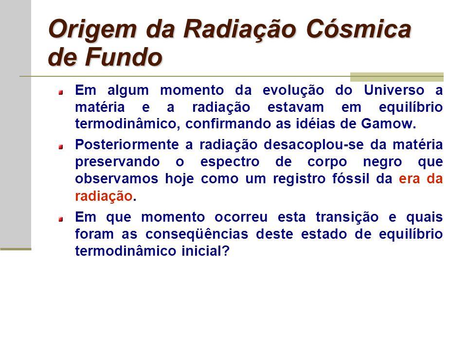 Origem da Radiação Cósmica de Fundo