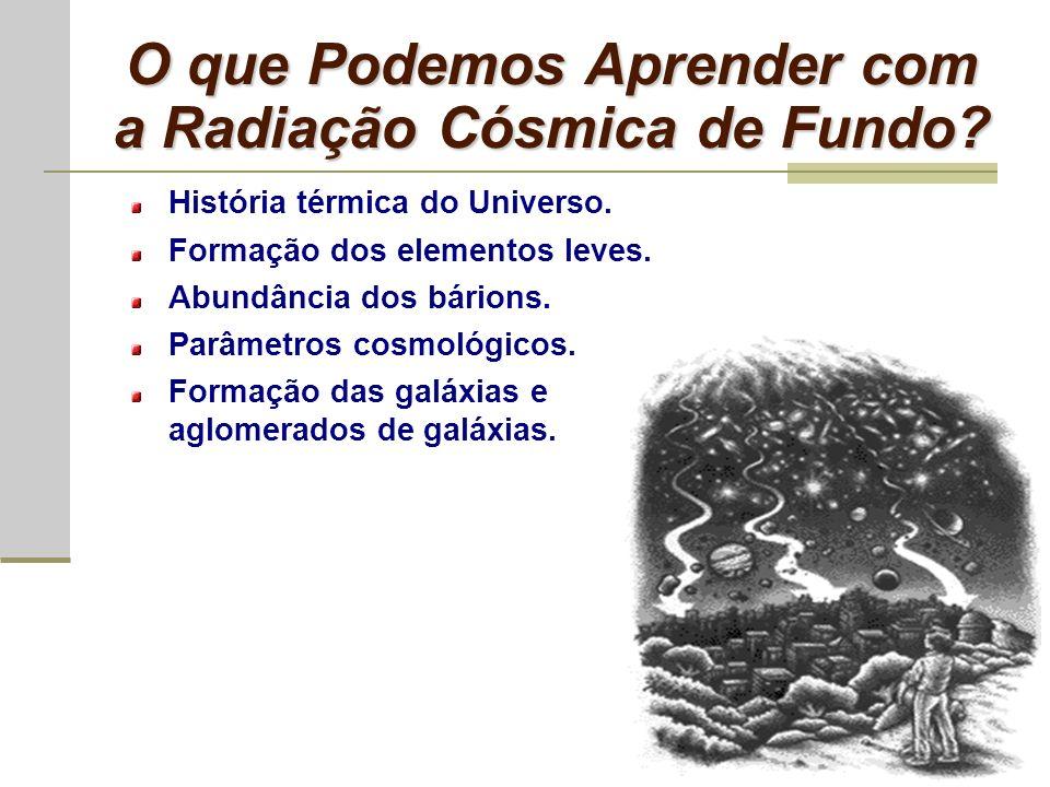 O que Podemos Aprender com a Radiação Cósmica de Fundo
