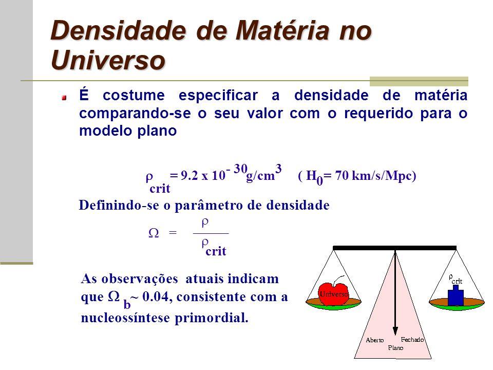 Densidade de Matéria no Universo