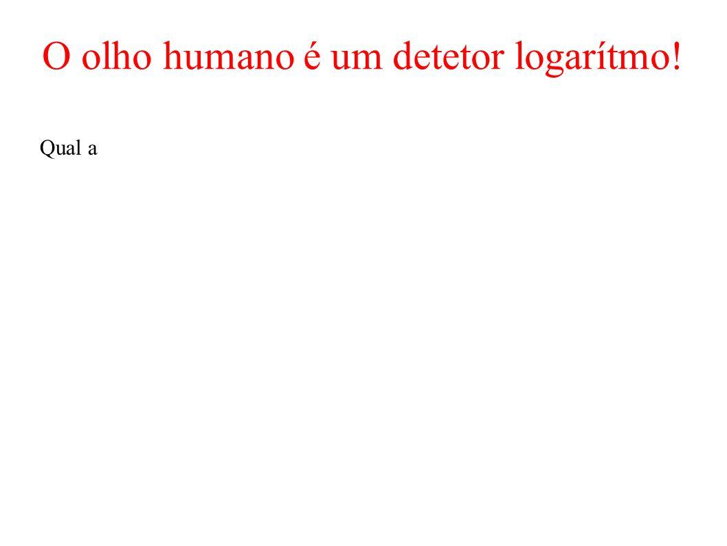 O olho humano é um detetor logarítmo!