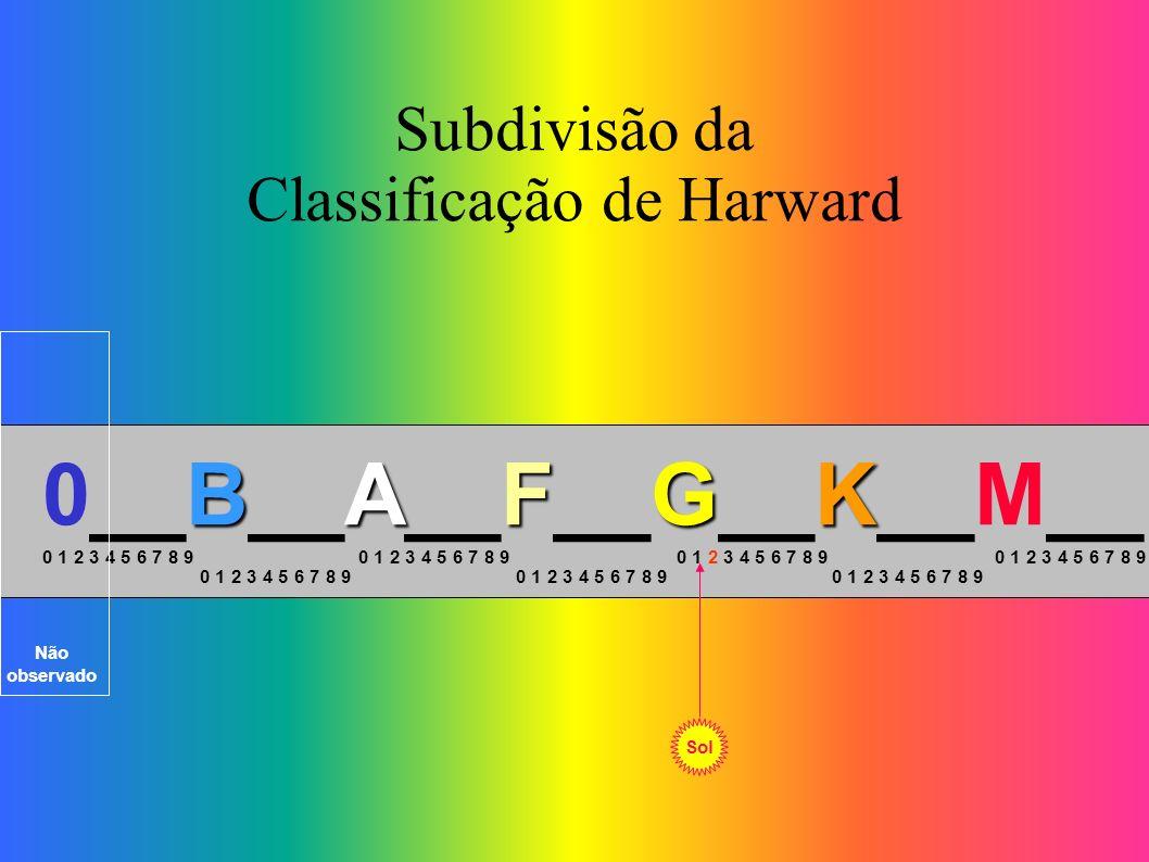 Subdivisão da Classificação de Harward