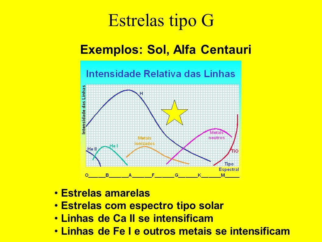 Exemplos: Sol, Alfa Centauri