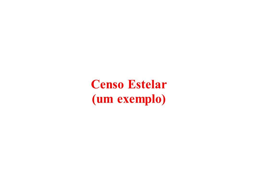 Censo Estelar (um exemplo)