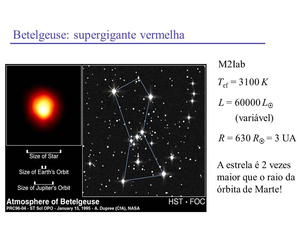 Betelgeuse: supergigante vermelha