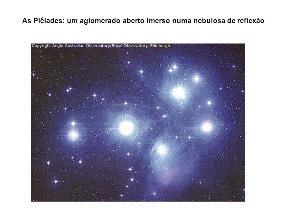 As Plêiades: um aglomerado aberto imerso numa nebulosa de reflexão