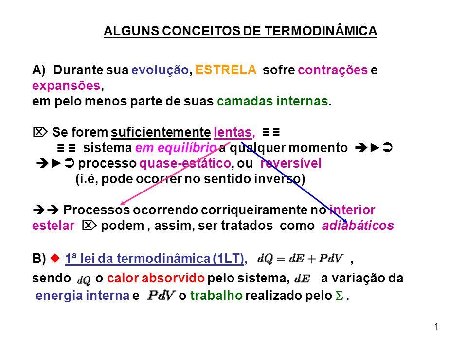 ALGUNS CONCEITOS DE TERMODINÂMICA
