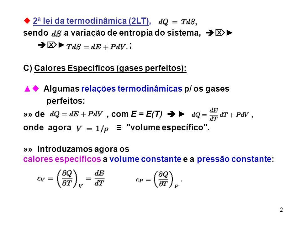  2ª lei da termodinâmica (2LT),