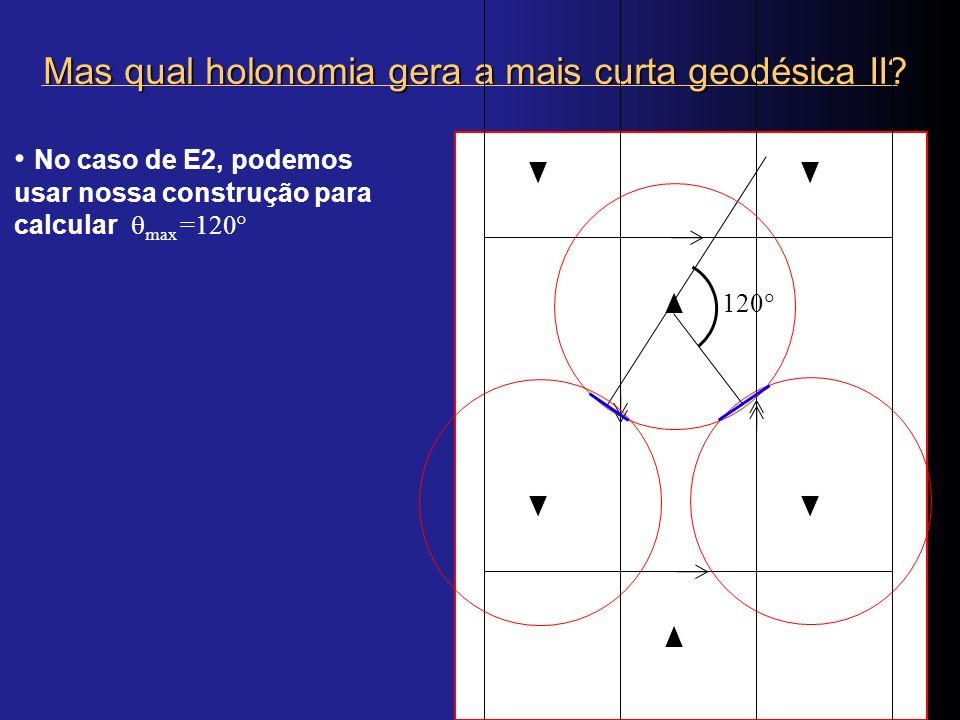 Mas qual holonomia gera a mais curta geodésica II