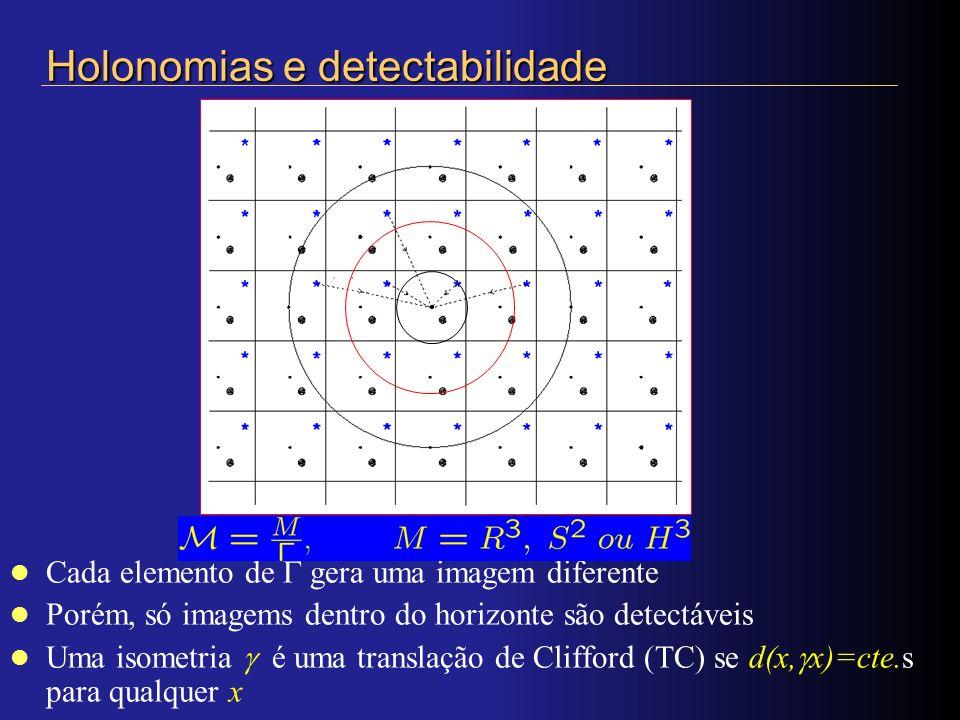 Holonomias e detectabilidade