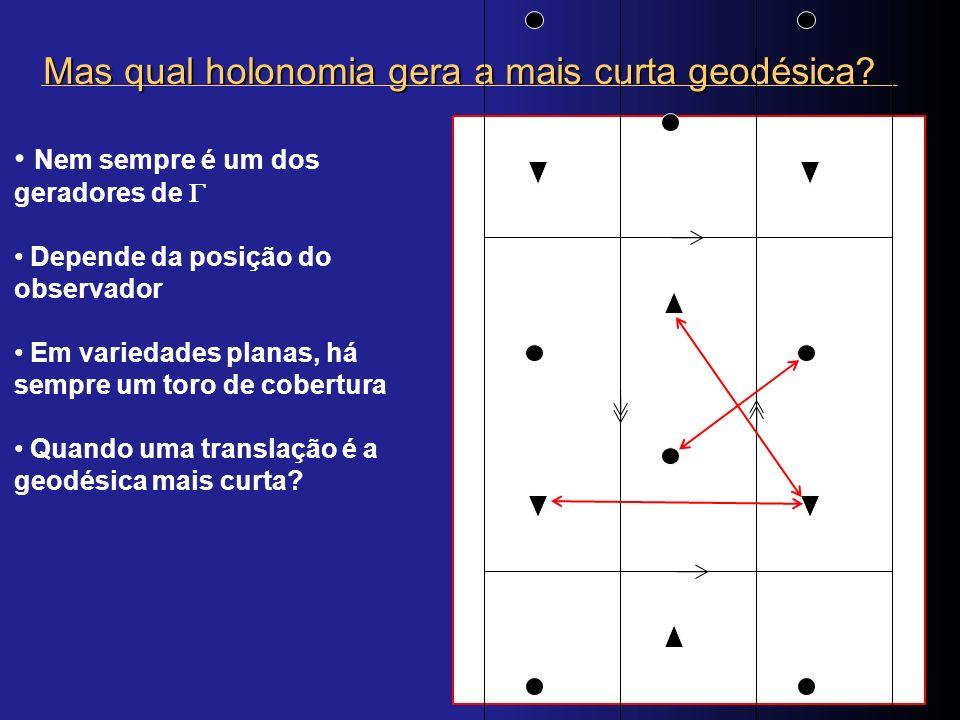 Mas qual holonomia gera a mais curta geodésica